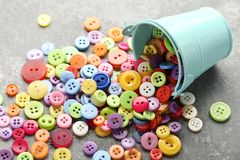 Colorful sewing buttons stock photos