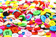 Colorful sewing buttons clasper Stock Image