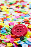 Colorful sewing buttons clasper Stock Photos