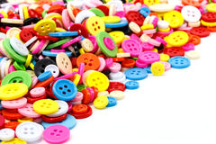 Colorful sewing buttons clasper Royalty Free Stock Photography