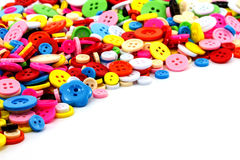 Colorful sewing buttons clasper Royalty Free Stock Photos