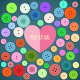 Colorful Sewing Buttons Seamless Pattern. Vector Stock Photo