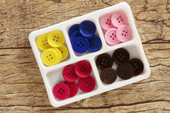 Colorful sewing buttons stock image
