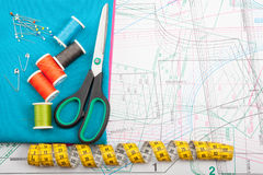 Colorful sewing concept Stock Images