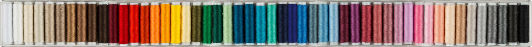 Colorful sewing cottons panorama Stock Image