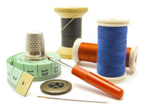 Colorful Sewing Items Royalty Free Stock Image