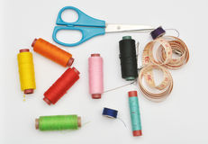 Colorful Sewing Items Stock Images