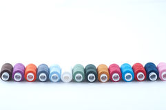 Colorful sewing spools Royalty Free Stock Photo