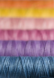 Colorful sewing thread. Set of five colorful sewing thread Stock Photo