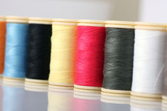 Colorful Sewing Thread Stock Photo