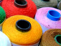Colorful Sewing Thread Pattern.  stock photography