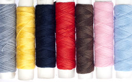 Colorful Sewing Thread Rolls Royalty Free Stock Photos