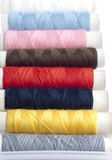 Colorful Sewing Thread Rolls Stock Image