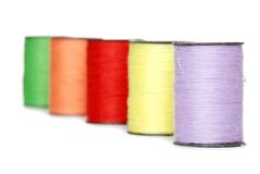 Colorful Sewing Thread Shallow Dof Stock Photography