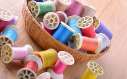 Colorful sewing thread Stock Photos
