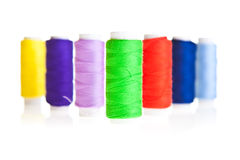 Colorful sewing threads Stock Photo