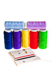 Colorful sewing threads Stock Photography