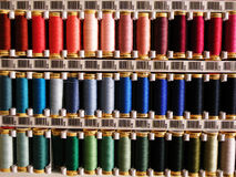Colorful sewing threads Stock Image