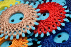 Colorful sewing threads Stock Images