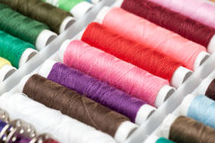 Colorful Sewing Threads Royalty Free Stock Images