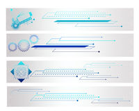 Colorful Shape Tech Banner. Colorful Shape and Tech Banner Royalty Free Stock Photo