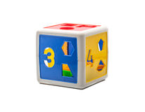 Colorful shape toy box Stock Photo