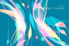 Colorful Shaped Concept Scene On Blue Stock Photography
