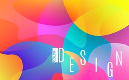 Colorful shapes. Bright abstract background. Plastic color elements. Trendy design for banner, poster, flyer, card. Colorful shapes. Bright abstract background stock illustration