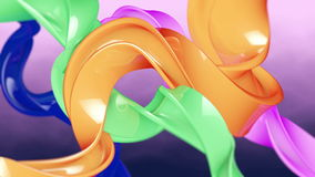 Colorful shapes stock footage