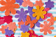 Colorful shapes. Colorful fabric craft shapes as a background Royalty Free Stock Images