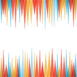 Colorful sharp edge strip background  Royalty Free Stock Image