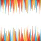 Colorful sharp edge strip background royalty free illustration