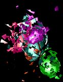 Colorful shattered shapes Stock Photos