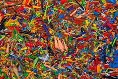 Colorful shavings Stock Images