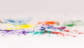 Colorful Shavings From Pencils 3 royalty free stock photo