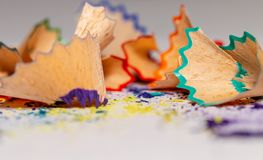 Colorful Shavings From Pencils 2 royalty free stock photos