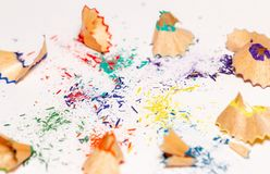 Colorful Shavings From Pencils 6 stock photo