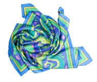 Colorful shawl. Isolated on white background with clipping path Royalty Free Stock Photos