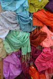 Colorful shawls Stock Photos