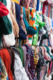Colorful shawls and scarfs Royalty Free Stock Photo