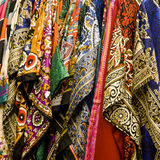 Colorful shawls and scarfs Stock Photo