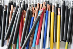 Colorful sheath wires Stock Image