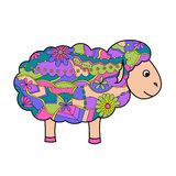 Colorful sheep Royalty Free Stock Photography