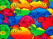 Colorful Sheeps background Stock Photography