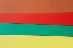 Colorful sheet of a carton. Royalty Free Stock Photo