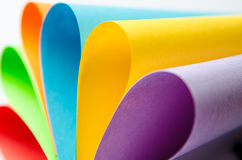 Colorful sheets of color paper, abstract background Stock Photography