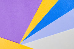 Colorful sheets of color paper, abstract background Stock Images