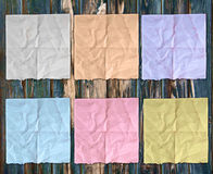 Colorful sheets of crumpled paper Stock Photography