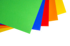 Colorful sheets of paper Royalty Free Stock Photography