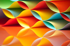 Colorful sheets paper with mirror reflexions Stock Photo
